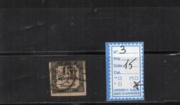 TAXE OBLITERE N°3 (court) - 1859-1955 Usados