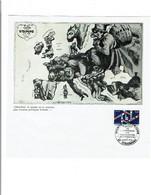 67 STRASBOURG   Carte D'EUROPE (reproduction) De  1870 Avec PJ YT 2050 Du 19/5/1979 élections Européennes  64 - Commemorative Postmarks
