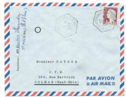 ENVELOPPE MARIANNE DECARIS / CHATEAUBOURG CPN°2 ILLE ET VILAINE 1961 / POUR COLMAR - 1961-....