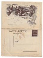 CARTE FRANCHISE MILITAIRE SEMEUSE - CARTE LETTRE PATRIOTIC ELD NEUVE - CARTE FM - Military Service Stampless