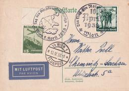 ALLEMAGNE 1938 CARTE PAR AVION DE WIEN - Storia Postale
