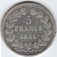 5 Francs Domard 1841 324-94  TB - J. 5 Francs