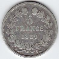 5 Francs Domard 1839 324-76  TTB - J. 5 Francs