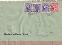 Brief Alliierte Besetzung AM Post Hamm 23.5.1946 - Amerikaanse, Britse-en Russische Zone
