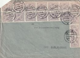 Toller Brief Alliierte Besetzung AM Post Herford 1.6.1946 Mehrfachfrankatur - Amerikaanse, Britse-en Russische Zone