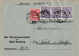 Brief Alliierte Besetzung AM Post Duisburg Vom 4.5.1946 - Amerikaanse, Britse-en Russische Zone
