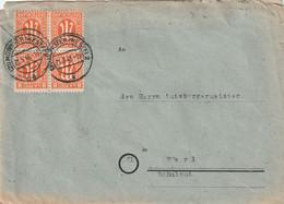 Brief Alliierte Besetzung AM Post Münster 21.5.1946 Frankatur Ist Ein 4er Block - Amerikaanse, Britse-en Russische Zone