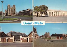 SAINT MALO : L'EGLISE DE ROCABEY - LA GARE - LA CASERNE - LA PLACE DE ROCABEY - Saint Malo