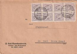 Brief Alliierte Besetzung AM Post Korschenbroich Vom 16.4.1946 - Franse Zone