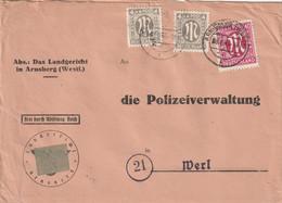 Brief Alliierte Besetzung AM Post Arnsberg Vom 3.4.1946 - Amerikaanse, Britse-en Russische Zone