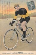 21-7342 : FABER VAINQUEUR DU TOUR DE FRANCE  SUR BICYCLETTE ALEYON PNEU DUNLOP. CYCLISTE - Cycling