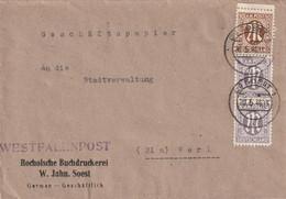 Brief Alliierte Besetzung AM Post Soest Vom 20.5.1946 - Amerikaanse, Britse-en Russische Zone