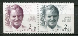 Schweden Sweden Sverige Mi# 1384-5 Postfrisch/MNH - Olof Palme Murdered - Nuovi