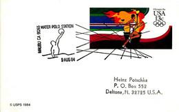 USA - 1984 LOS ANGELES Olimpiadi Pallanuoto Water Polo - 5027 - Verano 1984: Los Angeles