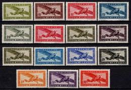 Indochine  - 1942 - Tb De 1933 Sans RF  - PA  N° 24 à 38- Neufs * - MLH - Airmail