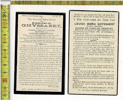 DP 11102 - MARIE EN LOUISE GHYSSAERT DOCHTERS VAN HONORE EN CAROLINA DEBACKER - KLERKEN  + 1903 EN 1940 - Devotion Images