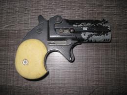 Pistolet D Alarme A Extracteur Style Derringer A Blanc - Decorative Weapons