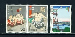 JAPAN  -  1978 Sumo Wrestling Set Never Hinged Mint - Nuevos