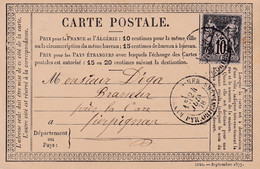 PYRENEES ORIENTALES (65)  - BANYULS-S-MER  Cachet 18, Sur Carte Postale Affranchie Avec Un Type Sage - 1877-1920: Periodo Semi Moderno