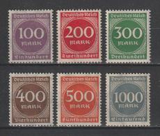 GERMANY REICH 1923 WEIMAR Mi 268-273 MNH ** FULL SET - Nuevos