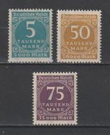 GERMANY REICH 1923 WEIMAR Mi 274-276 MNH ** FULL SET - Nuevos