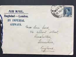 IRAQ Air Mail Cover Baghdad To Lancashire England - Iraq