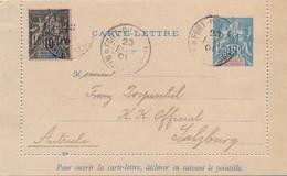 CARTE LETTRE ENTIER POSTAL FORT DAUPHIN MADAGASCAR POUR SALZBURG - Lettres & Documents