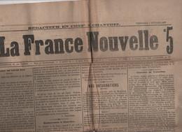 LA FRANCE NOUVELLE 02 02 1877 - MORT DE LOUIS XVI - TURQUIE SERBIE MONTENEGRO - TAXES POSTALES - NAOME BELGIQUE & SIVRY - 1850 - 1899