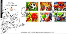 SINGAPORE - 1992 Olimpiadi Barcellona Serie Compl.6v. Annullo (fiaccola Olimpica) Su Busta Fdc - 8203 - Verano 1992: Barcelona