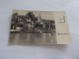 MONTRICHARD ( 41 Loir Et Cher ) LE CHER ET LA VILLE ANIMEES  BARQUE  1952 FLAMME - Montrichard