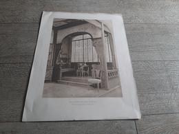 Planche Loggia Dans Une Salle à Manger Maison Krieger Damon Et Colin Années 1900 - Architecture