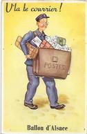 Carte à Système - Facteur - V'la Voilà Le Courrier - BALLON D 'ALSACE - Poste Lettre Courrier - Postes - Postal Services