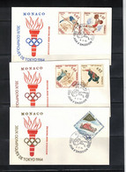 Monaco 1964 Olympic Games Tokyo FDC - Summer 1964: Tokyo