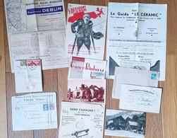 Lot  De 11 Papiers Divers Bon état Années 1930 - Zonder Classificatie