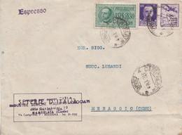 593- RSI - Busta Espresso Del 22 Gennaio 1944 Da Camerlata A Menaggio Con Lire 1,25 Verde Espresso + Cent. 50 Violetto - Marcofilía