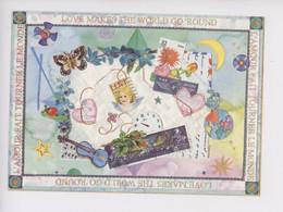 """Monica Montoliu """"l'amour Fait Tourner Le Monde"""" Love Makes The World Go Round (cartes D'art N°16 Cp Vierge) - Other Illustrators"""