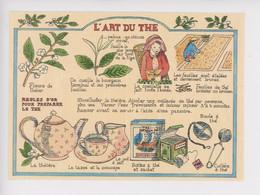 L' Art Du Thé, Tea Tradition  - Louise Deletang Illustrateur (cp Vierge Cartes D'art N°2) Pekoe Fleur Theière Cuillère - Medicinal Plants