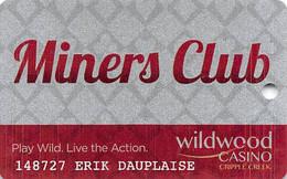 Wildwood Casino Cripple Creek CO Miner's Club / Slot Card - Casino Cards