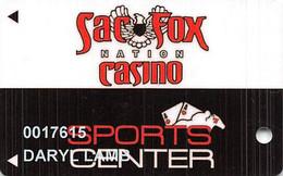 Sac Fox Casino - Shawnee, OK - Slot Card - Casino Cards