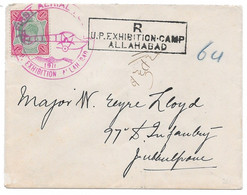 FIRST AERIAL POST 1911 Allahabad - Naini INDE BRITANNIQUE Lettre Recommandée PAR AVION Pilote Henri PEQUET Muller #1 - Airmail