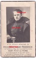 Oorlog Guerre Albert Penninck Deux Acren Soldat Cyclistes Frontiéres Gesneuveld Thenioux / France 1941 Mort Pour Patrie - Images Religieuses