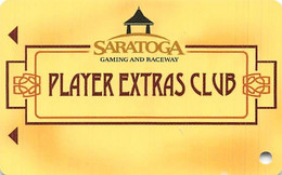 Saratoga Casino NY - BLANK Slot Card - ACC Over Mag Stripe - Casino Cards