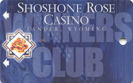 Shoshone Rose Casino - Lander, WY - BLANK Slot Card - Casino Cards