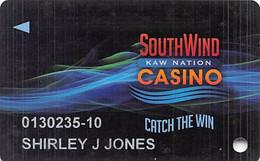 South Wind Kaw Nation Casino - Newkirk, OK - Slot Card - Casino Cards