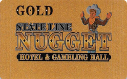 State Line Nugget Casino - Wendover, NV - Slot Card  (BLANK) - Casino Cards