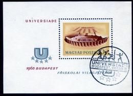 HUNGARY 1965 Universiade Games  Block Used.  Michel Block 50 - Used Stamps