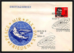 67781 Galileo Galilei Galilée 30/11/1964 Berlin Germany DDR Espace Space Lettre Cover - Europa