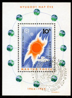 HUNGARY 1965 Quiet Sun Year Block Used.  Michel Block 46 - Blocks & Kleinbögen