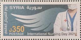 Syria NEW MNH 2021 Issue - International Nursing Day - Nurses, The White Army - Siria