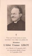 Doodsprentje Met Foto L'Abbé Ursmer Leroy ° Binche 1887 + Leuze 1956 - Binche